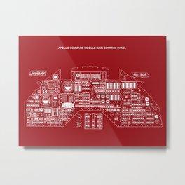 Command Module Control Panel Metal Print