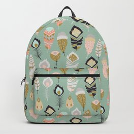 Tribal feather pattern 035 Backpack