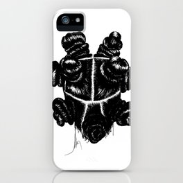 Bantu Knot By Sight iPhone Case