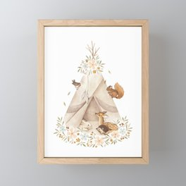 Spring Teepee Framed Mini Art Print