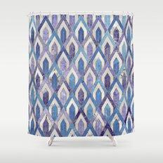 Art Deco Marble Pattern III. Shower Curtain