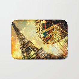 pariS. : Eiffel Tower & Ferris Wheel Bath Mat
