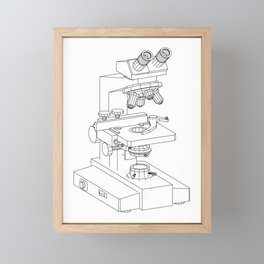 microscope Framed Mini Art Print