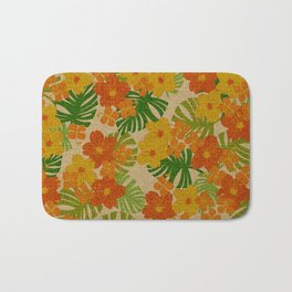 Limahuli Garden Hawaiian Floral Design Bath Mat