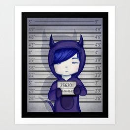 In jail... Art Print