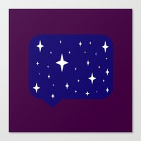 sayings Canvas Prints featuring Star Sayings by Mantha