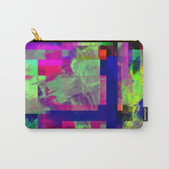 Pastel Geometry X - Abstract, goemetric, pastel coloured, textured artwork Carry-All Pouch