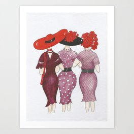 Red and Purple are the new Black Art Print