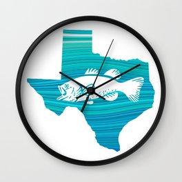 Texas Wave Fishing Wall Clock