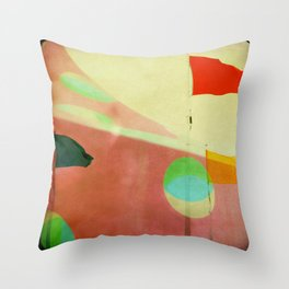 The Day the Circus Came to Town Throw Pillow