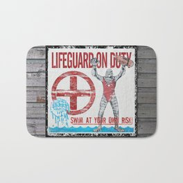 The Creature Lifeguard Is On Duty (1) Bath Mat