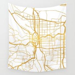 PORTLAND OREGON CITY STREET MAP ART Wall Tapestry