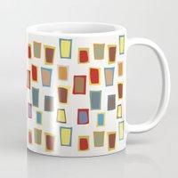 mid century Mugs featuring Dream of mid century by Ryoko Rainbow
