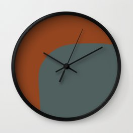 Miracle Rock in Red Blue _Block Colour Wall Clock