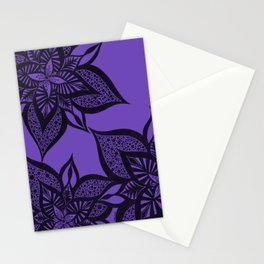 Floral Fantasy in Purple Stationery Cards