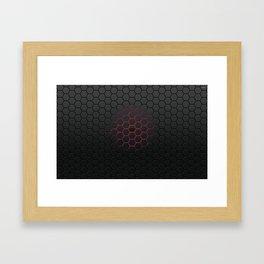 Red Glow Honeycomb Framed Art Print