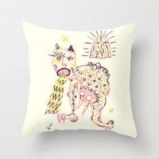 The Broken Foot Devil & The Pink Mountain Top  Throw Pillow