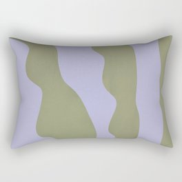 Abstract plant home decor art, minimal, unique  Rectangular Pillow