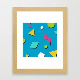 Fresh Prince 90s Pattern Framed Art Print