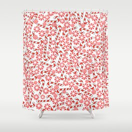 Cute Candy Holiday Pattern Shower Curtain