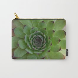 Houseleek (Sempervivum) Photo with purple tips viewed from the top dow Carry-All Pouch