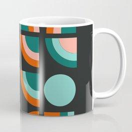 Spiffy - 70's retro throwback minimal geometric trendy colors art 1970s Coffee Mug