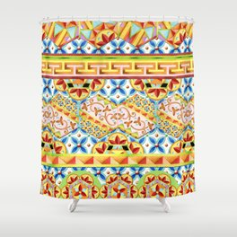 Gypsy Caravan Circus Shower Curtain