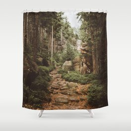 Table Mountains - Landscape and Nature Photography Shower Curtain