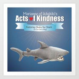 Shaka the Shark Art Print