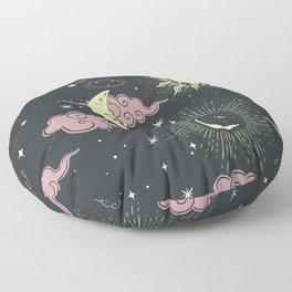 Celestial Faces Floor Pillow