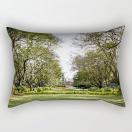 Trees Stretching over Cubbon Park, Bangalore, India Rectangular Pillow