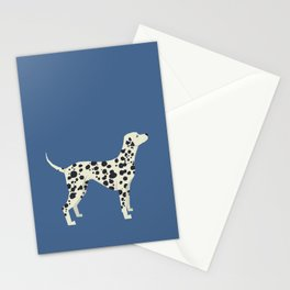 Dalmatian On Blue Stationery Cards