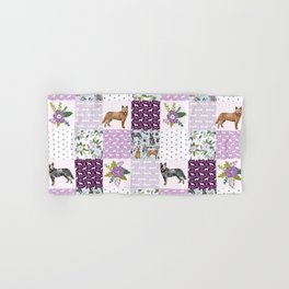 Australian Cattle Dog cheater quilt pattern dog lovers by pet friendly Hand & Bath Towel
