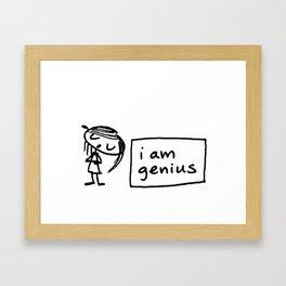 i am genius Framed Art Print