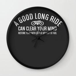 Long Ride Wall Clock