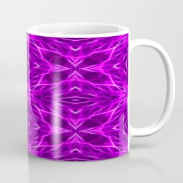 Abstract Geometric Light Factual Bright Fuchsia Coffee Mug