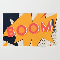 comic Area & Throw Rugs featuring COMIC BOOM by Allyson Johnson