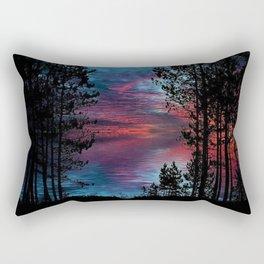 Ashland Causeway Sunset - Scituate Reservoir, Rhode Island Landscape Rectangular Pillow