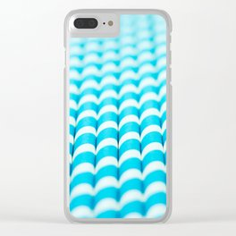 Blue straws Clear iPhone Case