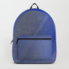 Exhale - Minimal Watercolor Abstract Blue Backpack