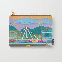 Santa Cruz, California - Skyline Illustration by Loose Petals Carry-All Pouch