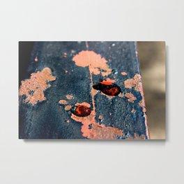Rusting Rain  Metal Print