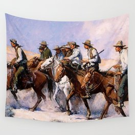 """""""The Posse"""" Western Art by WHD Koerner Wall Tapestry"""