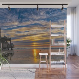 Low Tide Northside Sunset Wall Mural