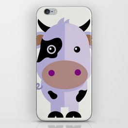 Purple cow by Leslie harlo iPhone Skin