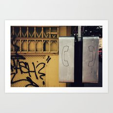 Pay Phone IV Art Print