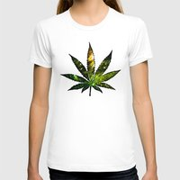 marijuana T-shirts featuring Marijuana Leaf - Design 3 by Spooky Dooky