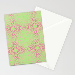 flower power: raspberry & lime Stationery Cards