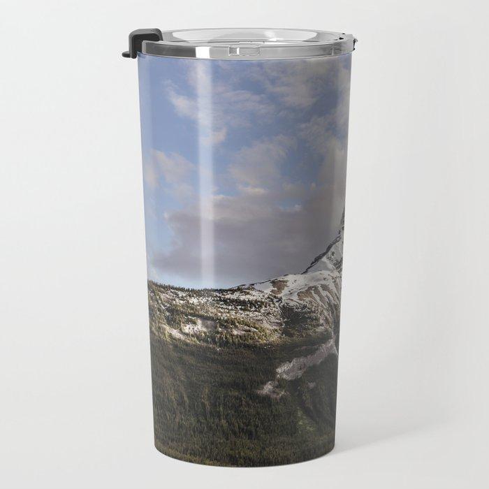 Sunrise and mountain Travel Mug