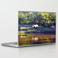 rhino Laptop & iPad Skins featuring Rhino  by Art-Motiva